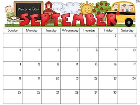 editable monthly calendars teacher heart tpt