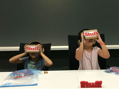 Kids Experience Virtual Reality For The First Time Stuff