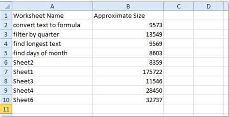check  size   worksheet  workbook
