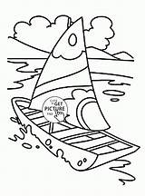 Coloring Boat Pages Sailing Transportation Printables Truck Wuppsy Water Blaze Ship Toddlers Monster Starla Mandarin Fruits Fruit Orange Tree Boats sketch template