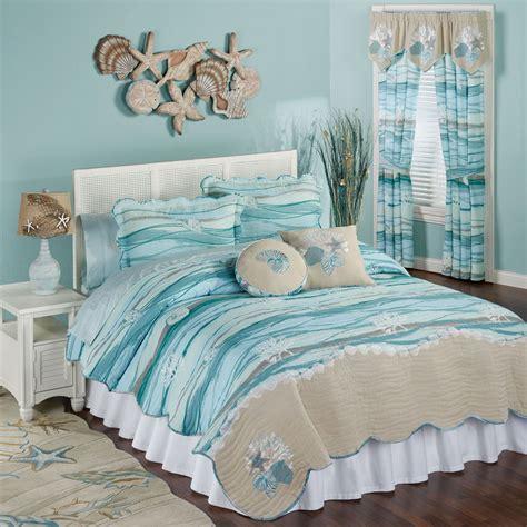 seaview coastal mini quilt set bedroom decor coastal