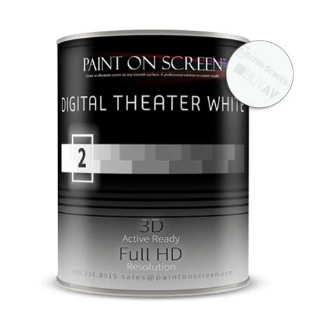 projector screen paint digital theater white gallon
