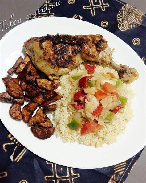 attiéké poulet braisé tabou en cuisine