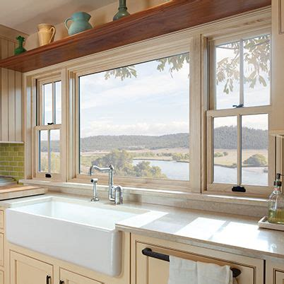 andersen  series double hung window picture window  side double hung windows