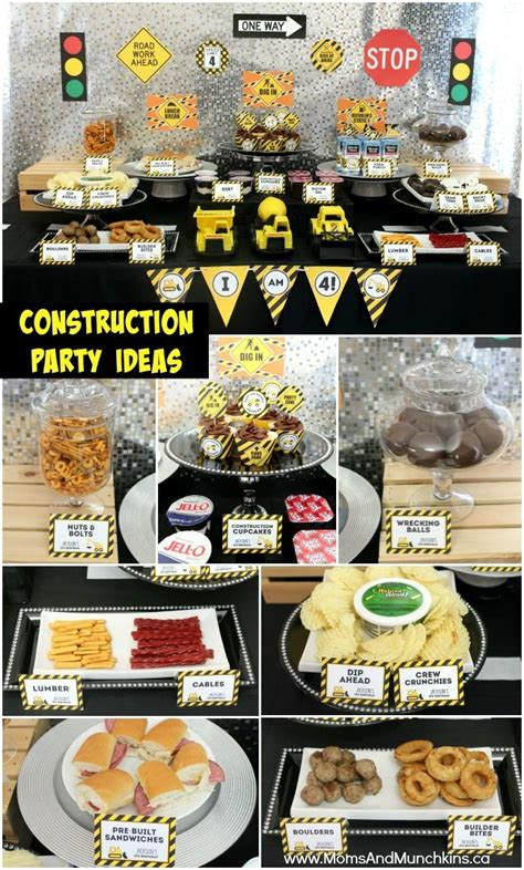 construction cuisine best 25 construction birthday ideas on