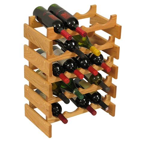 countertop oak wood wine rack wine bottle display stand