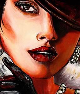 Erotische Kunst Bilder : burgstaller original acryl gem lde bilder painting kunst leinwand frau percep ebay ~ Sanjose-hotels-ca.com Haus und Dekorationen