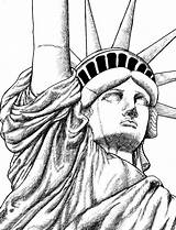 Liberty Statue Drawing York Coloring Drawings Easy Pages Adult Sketches Step Skyline Head Cartoon Directed Printable Getdrawings Doodle Grown Face sketch template