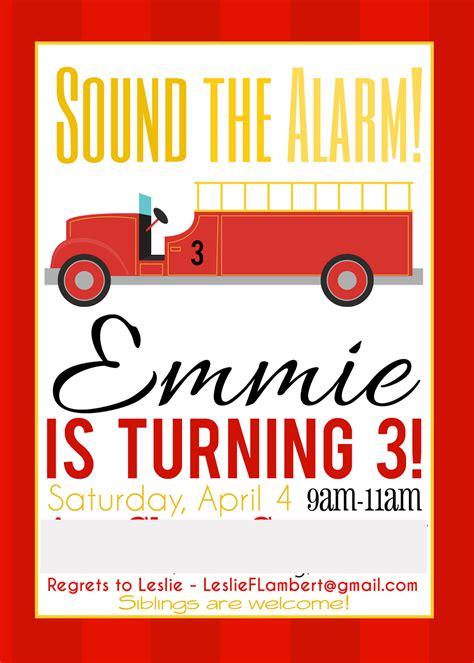 emma rameys firetruck  birthday party lamberts