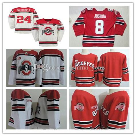 custom mens ohio state buckeyes hockey jerseys big