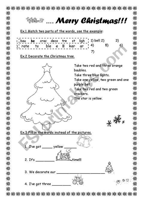 merry christmas esl worksheet by sasha ru