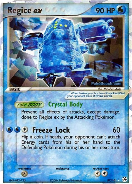 regice   hidden legends pokemon card review