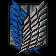 Attack On Titan Survey Corps Emblem Wallpaper Attack on titan logo 3d      Attack On Titan Survey Corps Iphone Wallpaper