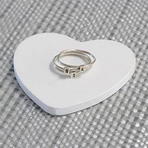 sterling silver personalised letter ring buy online from With silver letter ring
