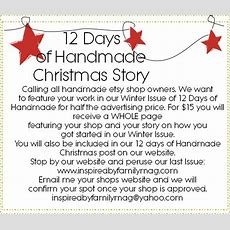 12 Days Of Handmade Christmas Story  Inspired By Family