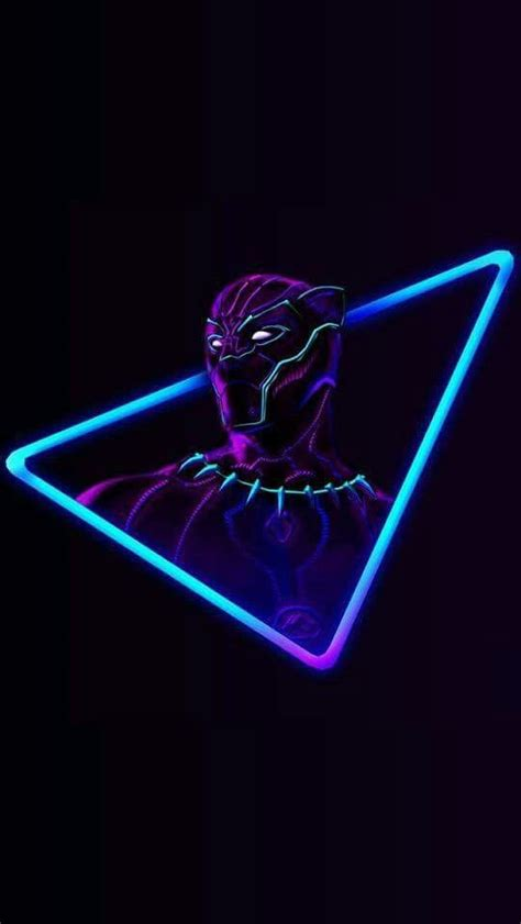 Black Neon Wallpaper Iphone by Black Panther Neon Iphone Wallpaper Iphone