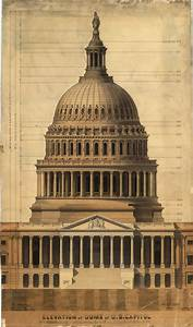 Elevation Of The Dome Of The U S  Capitol