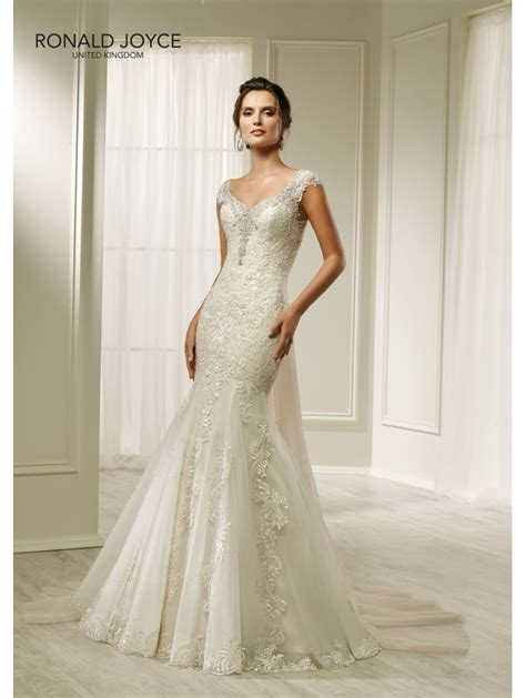 Ronald Joyce 69219 Hesper Slim Fitting Tulle And Lace