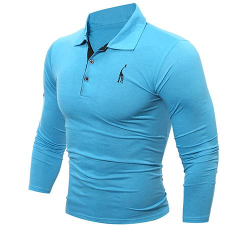 Embroider Polo Shirt Template by Mens Fashion Deer Embroidery Polo Shirt Turndown Collar