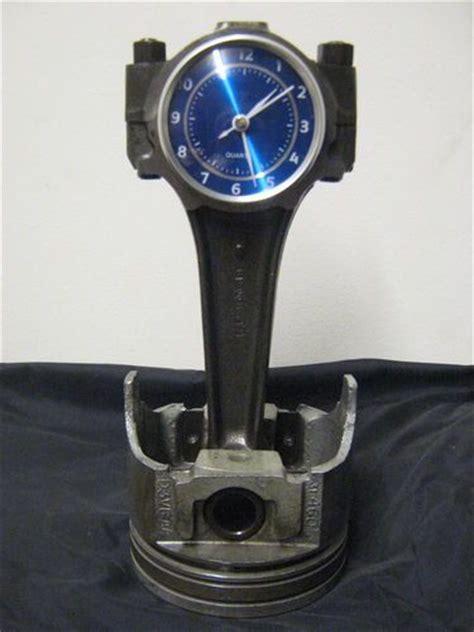 ford big block piston  rod clock relogio em pistao
