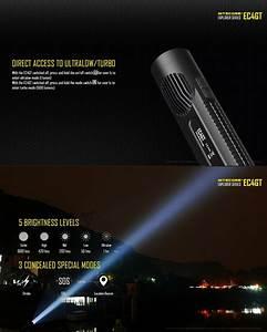 Lampe Torche Longue Portée : lampe torche nitecore ec4gt 1000lumens longue port e ~ Dailycaller-alerts.com Idées de Décoration