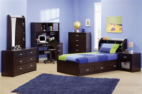 contemporary chocolate youth bedroom