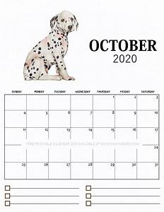 Monthly Calendar November 2020 Printable Free Printable Monthly Calendar 2020 In Cute Dog Theme