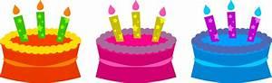 Birthday Cake Clip Art Border Free Clipartix