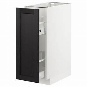 Tv Unterschrank Ikea : metod unterschrank ausziehb einrichtg wei lerhyttan schwarz lasiert ikea ~ Watch28wear.com Haus und Dekorationen
