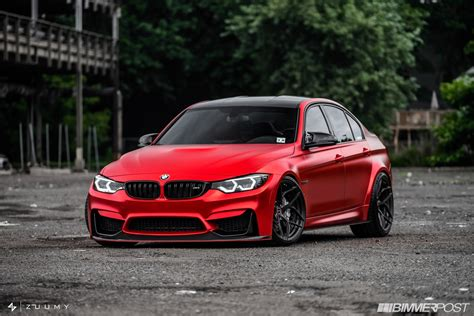 red bmw what do you say about this satin red bmw m3 tune carscoops