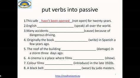 active  passive voice exercises youtube