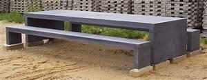 Betonbank Selber Bauen : b nke und tische aus sichtbeton anthrazit betongrau uvm ~ Markanthonyermac.com Haus und Dekorationen