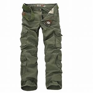 2017 Mens Military Cargo Pants Multi pockets Baggy Men ...