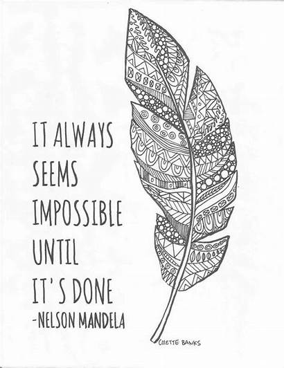 Coloring Pages Adult Quote Mandela Nelson Quotes