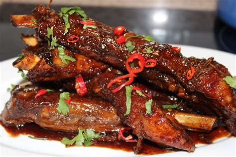 spare ribs flower pot kitchen sweet sticky crabbies ginger spare ribs