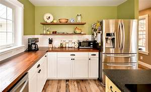 Antique Reclaimed Wood Countertops And Floating Shelves
