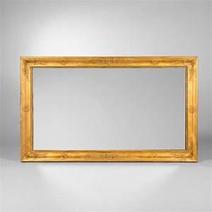 Miroir Doré Rectangulaire : grand miroir en bois dor style restauration 2015090340 expertissim ~ Teatrodelosmanantiales.com Idées de Décoration