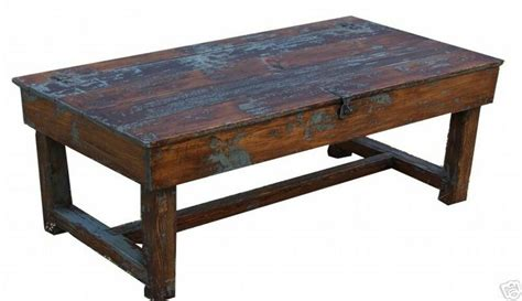 Old Farmhouse Rustic Coffee Farm Table Painted Country