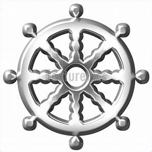 Emblems And Symbols: Buddhism Symbol Wheel - Stock ...
