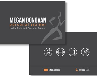 These personal trainer business card templates have everything that you might need. Personal Training Business Card on Behance