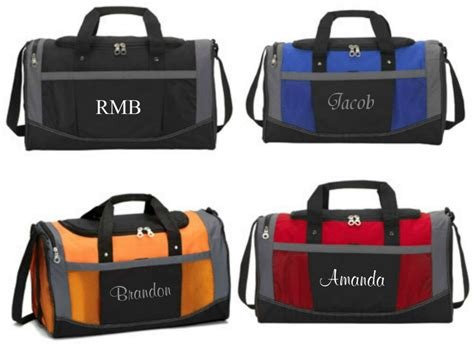 personalized gym bag sports duffel carry  groomsmen gift