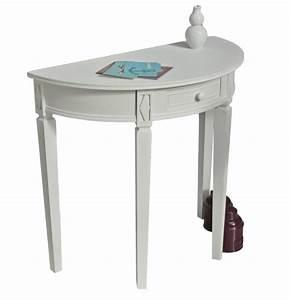 Tisch Weiß Rund : tisch wei halbrund landhaus ~ Frokenaadalensverden.com Haus und Dekorationen