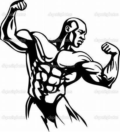 Bodybuilding Bodybuilder Clipart Vector Powerlifting Clip Graphic