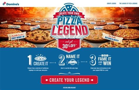 Create A Pizza Legend With Dominos  Dragons And Fairy Dust