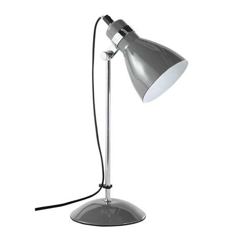 lampe de bureau en metal grise   cm pix maisons du monde