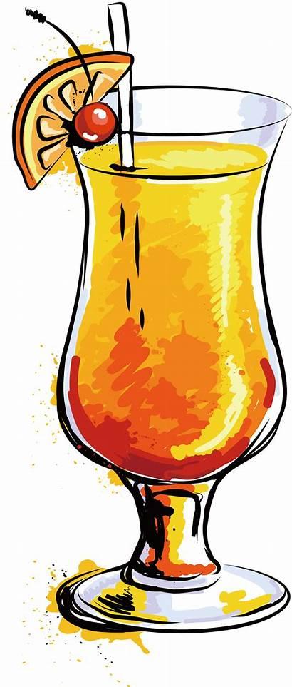 Clipart Drink Cocktail Party Juice Orange Transparent