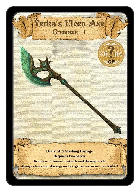 Firebringeraxel's Creations — Custom Magical Item Cards