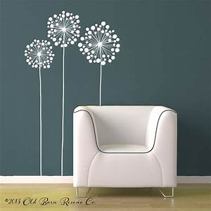 3 large flowers vinyl wall decal design by With flower wall decals