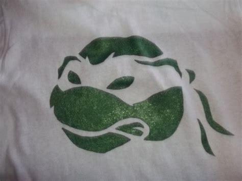 teenage mutant turtle stencil tshirt   paint   shirt   cut
