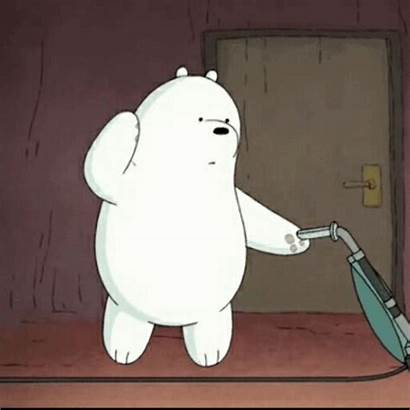 Cleaning Dancing Vacuum Clean Bare Bears Gifs